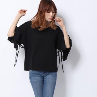 ラナン Ranan 袖異素材切替デザインTシャツ (BL)
