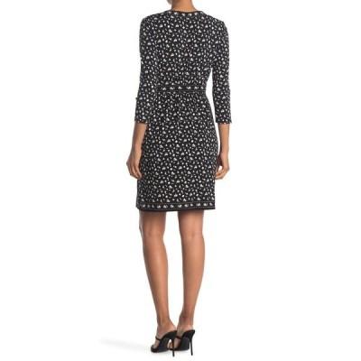 マックスタジオ レディース ワンピース トップス Printed 3/4 Sleeve Jersey Dress BKSGSTGR