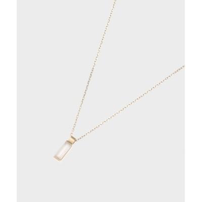 COCOSHNIK(ココシュニック) カラーストーン(ムーンストーン)バゲットカット ネックレス