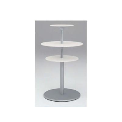 ラウンジテーブル 送料無料 3段ユニット 3段テーブル ホワイトテーブル モダン ロビー 休憩スペース オフィス家具 テーブル L401RF-WB01