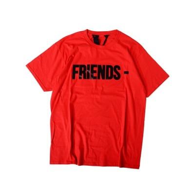 VLONE ヴィーロン ヴィーローン Tシャツ メンズ レディース ユニセックス 半袖 フレンズ FRIENDS TEE S/S RED/BLACK イアン・コナー FRIENDS-SST-RB