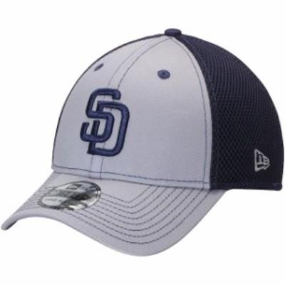 New Era ニュー エラ スポーツ用品  New Era San Diego Padres Gray/Navy Team Front Neo 39THIRTY Flex Hat