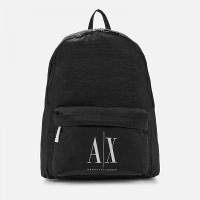 アルマーニ Armani Exchange メンズ バックパック・リュック バッグ Ax Logo Backpack Black
