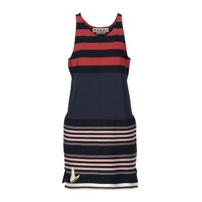 マルニ MARNI ミニワンピース&ドレス ダークブルー 46 コットン 100% ミニワンピース&ドレス