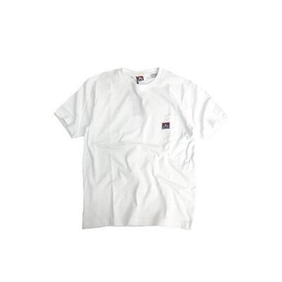 BEN DAVIS Tシャツ ポケット付き メンズ ベンデイビス 半袖Tシャツ ゴリラアイコンタグ (Mサイズ, ホワイト)
