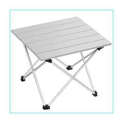 EDEUOEY Aluminum Folding Camping Table: Roll up Top Waterproof Bag Family Cooking Hiking Sand Picnic Low Mini Compact End Backpacking Outdoo