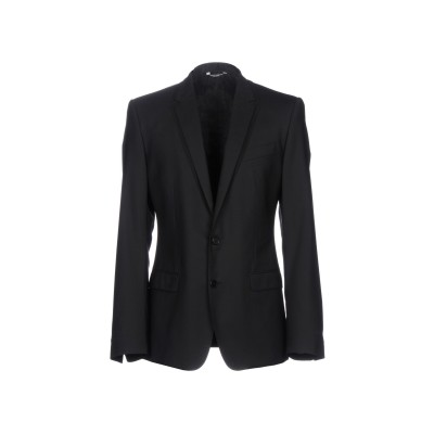 ドルチェ & ガッバーナ DOLCE & GABBANA テーラードジャケット ブラック 46 バージンウール 100% テーラードジャケット
