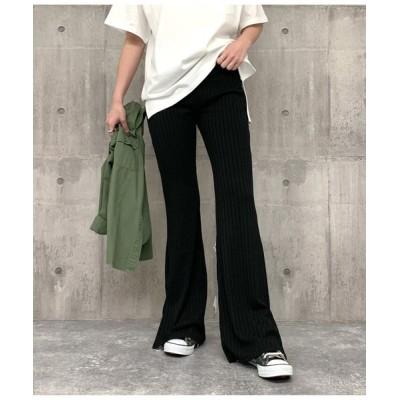 ANAP / サイドスリットリブフレアパンツ WOMEN パンツ > パンツ