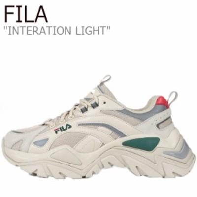 フィラ スニーカー FILA メンズ レディース INTERATION LIGHT インタレーション ライト GREEN グリーン 1JM01283-142 シューズ