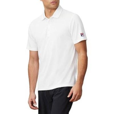 フィラ メンズ シャツ トップス FILA Men's Essential Pique Tennis Polo White
