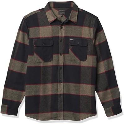 Brixton Bowery L/S Flannel Shirt Heather Grey/Charcoal M ネルシャツ 送料無料