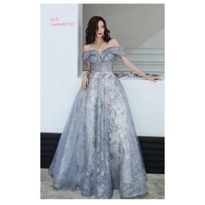 パーティードレス ウェディングドレス 大きいサイズ ロングドレス カラードレス お花嫁ドレス 二次会ドレス イブニングドレス 結婚式 演奏会 姫系 Aライン