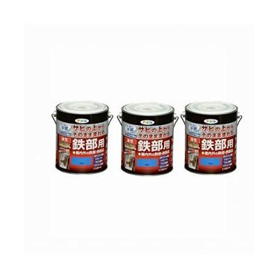 Asahipen(アサヒペン) 油性高耐久鉄部用 空色 1.6L まとめ買い3缶セット