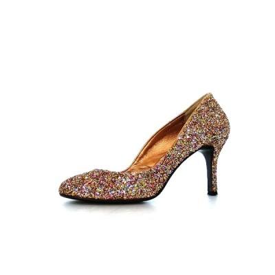 【中古】ピッピ Pippi ラウンドトゥ パンプス シューズ 靴 36.5 マルチカラー SSAW レディース 【ベクトル 古着】