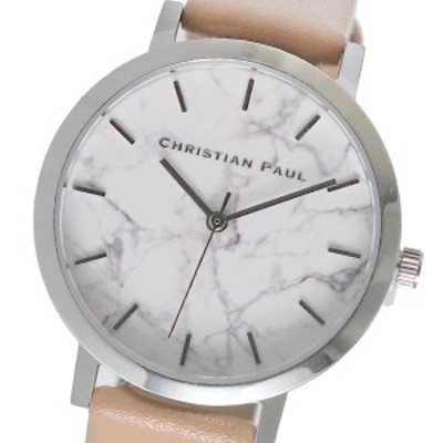 クリスチャンポール CHRISTIAN PAUL レディース 腕時計 MAR-13 (MWS3505) ホワイトマーブル 【激安】 【SALE】