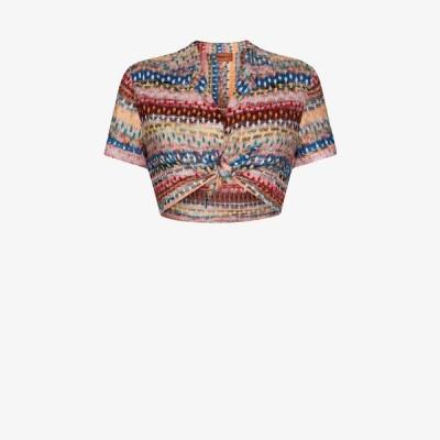 ミッソーニ Missoni Mare レディース ベアトップ・チューブトップ・クロップド トップス crochet knit crop top pink