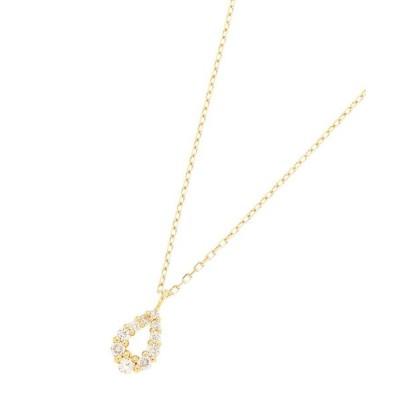 COCOSHNIK/ココシュニック K18ダイヤモンド グラデペアシェイプ ネックレス小 イエローゴールド(104) 40