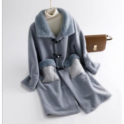 冬物 レディース オフィス ロング丈コート おしゃれ 上着 ジャケット アウター 暖かい OL 通勤 フェイクファー 女性 防寒 毛皮コート 上質 長袖コート 切り替え