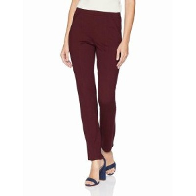 Rafaella  ファッション パンツ Rafaella NEW Red Womens Size 10X30 Casual Pull-On Femme Pants Stretch