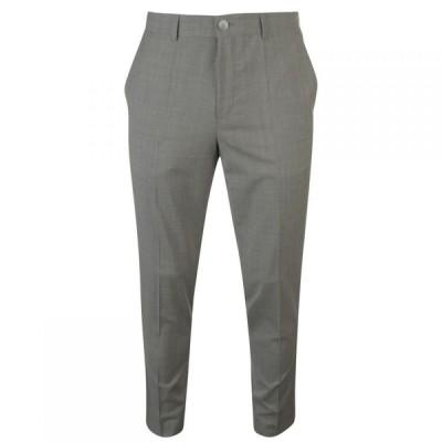 ヒューゴ ボス Hugo メンズ スラックス スリム スキニー・スリム ボトムス・パンツ Slim Fit Textured Chino Suit Trousers Mid Grey