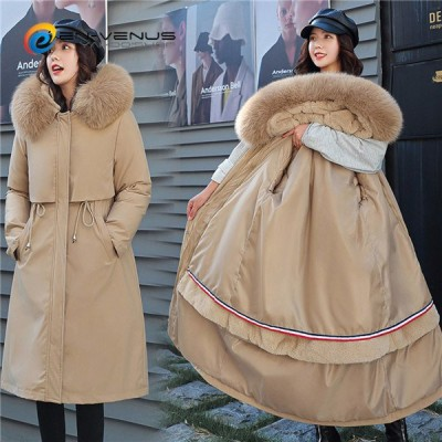 中綿ジャケット 着痩せ Aライン 大きいサイズ レディース ロングジャケット 中綿コート モッズコート 裏起毛 裏ボア 冬服 防寒着 暖かい 厚手 フード付き