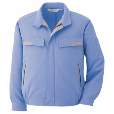 ミドリ安全 ベルデクセルESD IEC対応高機能 長袖ブルゾン VE73上 ブルー 作業着 作業服