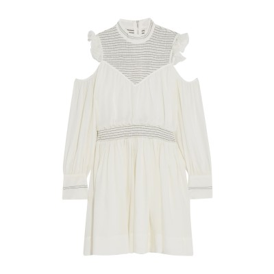 CINQ À SEPT ミニワンピース&ドレス ホワイト 6 シルク 100% ミニワンピース&ドレス