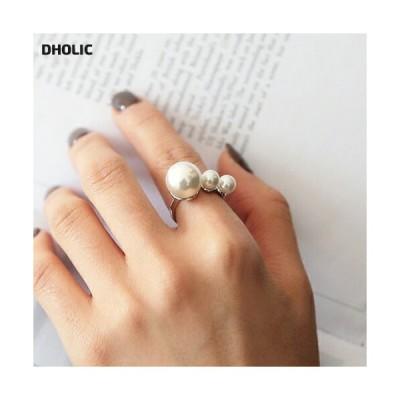 レディース 韓国 ファッション アクセサリー ジュエリー リング 指輪 パール フェイクパール 上品 フェミニン ゴールド シルバー 大人 カジュアル