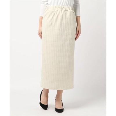スカート ケーブル柄ふくれジャガードスカート