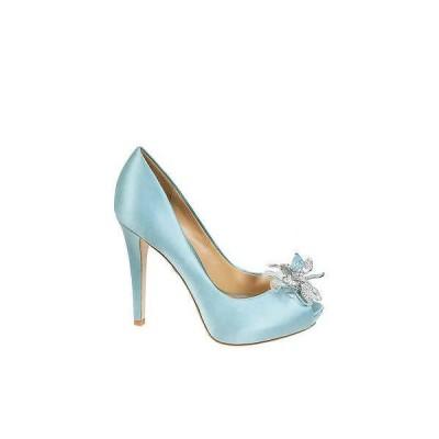 バッジェリー ミシュカ レディース パンプス Badgley Mischka CLEONE wedding bridal open toe pumps Nile Blue shoes US 7,5
