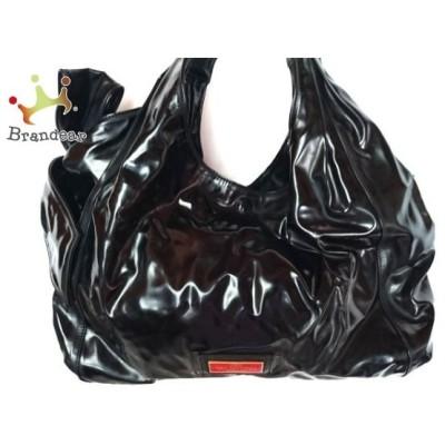 バレンチノガラバーニ VALENTINOGARAVANI トートバッグ 黒 リボン/赤タグ エナメル(レザー)   スペシャル特価 20200615