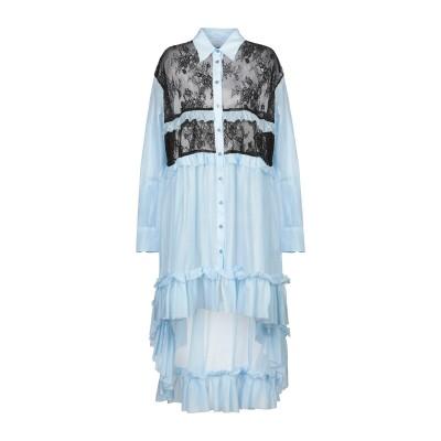 BROGNANO ミニワンピース&ドレス スカイブルー 38 コットン 72% / シルク 28% / ナイロン ミニワンピース&ドレス