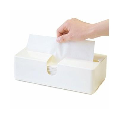 オカ 取り出しやすいペーパータオルケースピック(ホワイト) (ティッシュケース つめかえ用)