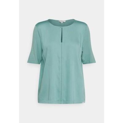 トム テイラー レディース ファッション FEMININE FABRIC MIX - Print T-shirt - mineral stone blue