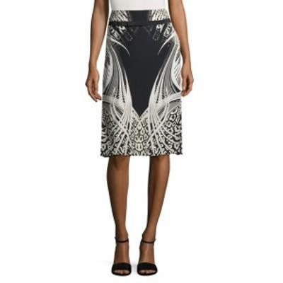 ロベルトカバリ レディース スカート Art Deco Print A-Line Skirt