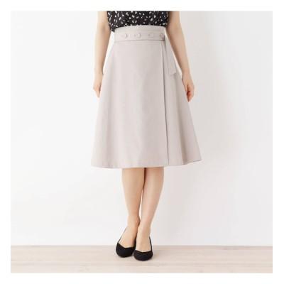 【インデックス/index】 【洗える・42(LL)WEB限定サイズ】ボタンベルト風Aラインスカート