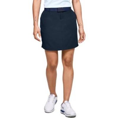 アンダーアーマー レディース スカート ボトムス Under Armour Women's Links Woven Golf Skort Navy