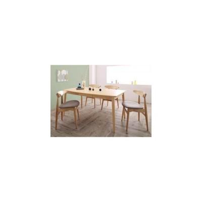 ダイニングセット テーブル&ベンチ・チェア  北欧スタイル ダイニング 5点セット テーブル+チェア4脚 W150