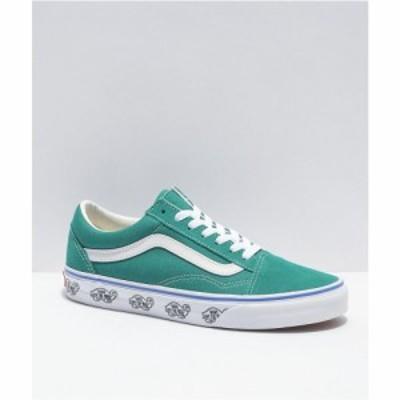 ヴァンズ VANS レディース スケートボード シューズ・靴 Vans Old Skool Parasail Side Wall Skate Shoes Turquoise/aqua