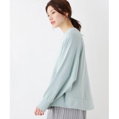 SHOO・LA・RUE/シューラルー 裏毛ドルマンプルオーバー カーキ&グリーン(020) 02(M)