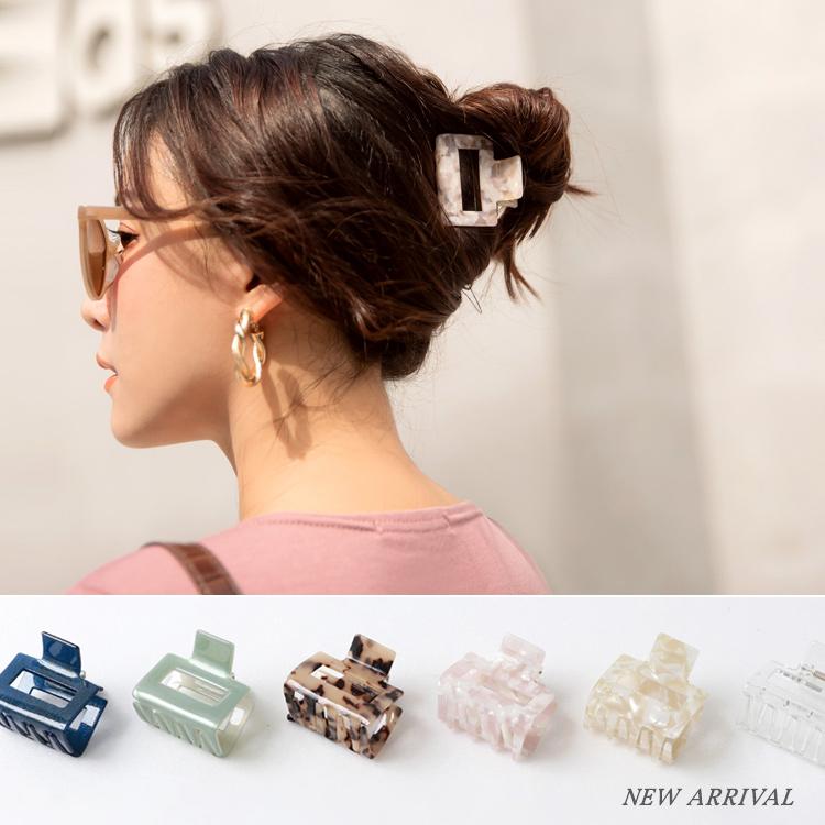 法式復古質感光澤花紋髮夾