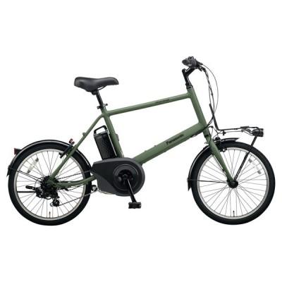 PANASONIC BE-ELVS072-G マットオリーブ ベロスター・ミニ [電動アシスト自転車(20インチ・外装7段変速)] 電動自転車