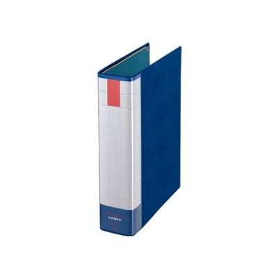パイプ式ファイル両開き A4タテ とじ厚50mm 青 ライオン事務器 11285NO753RK