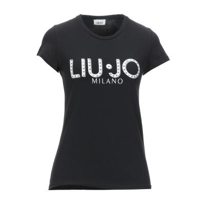 リュー ジョー LIU •JO T シャツ ブラック M コットン 100% T シャツ