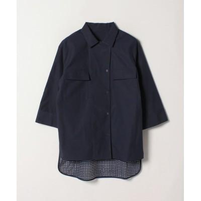【ランバンコレクション】 バック切り替えシャツ レディース ネイビー 38 LANVIN COLLECTION