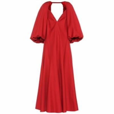 カイト Khaite レディース ワンピース ワンピース・ドレス Joanna cotton dress Oxblood