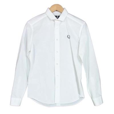 RAF SIMONS ラフシモンズ フレッドペリー Fred Perry 胸刺繍 ボタンダウン ウィングカラー シャツ ホワイト系 XS【中古】