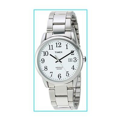 Timex Men's TW2R23300 Easy Reader 38mm Silver-Tone/White Stainless Steel Bracelet Watch【並行輸入品】