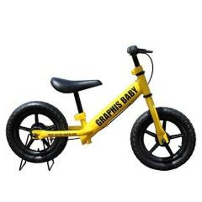 GRAPHIS(グラフィス)GRAPHIS (グラフィス)  12インチ幼児用ペダルなし自転車 RBJ ランニングバイクジャパン大会公認 GR-BABY イエロー
