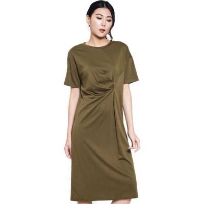 ニチイ Nichii レディース パーティードレス ワンピース・ドレス Side Knot Short Sleeve Dress Army Green